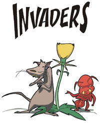 invasive species cartoon graphic from Nevada's Bureau of Land Management
